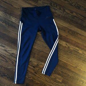 Adidas Sz M Leggings Three Stripes